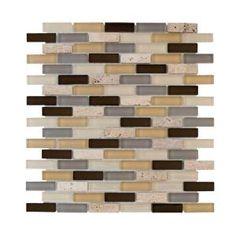 castle stone brick glass mosaic tile backsplash - Glass Tile Castle Ideas