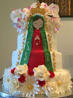 Pastel Virgen María