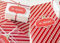 """No Peeking"" Gift Tags from Simply Modern Mom"