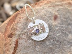 Camera necklace  Capture life hand stamped by brandedheart on Etsy, $14.00