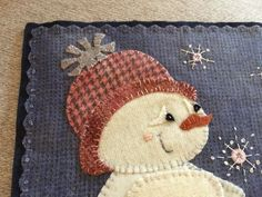 Baby, Its cold outside! Wool appliqué pattern
