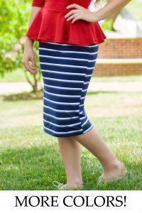 Juniors Knit Striped Skirt