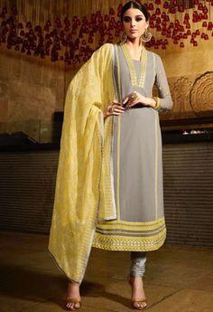 Grey Georgette Designer Suit..@ fashionsbyindia.com #designs #indian #womens #style #cloths #stylish #casual #fashionsbyindia #punjabi #suits #wedding #chic #elegance #beauty #outfits #fantasy #embroidered #dress #PakistaniFashion #Fashion #Longsuit #FloralEmbroidery #Fashionista #Fashion2015 #IndianWear #WeddingWear #Bridesmaid #BridalWear #PartyWear #Occasion #OnlineShopping #salwar #kameez