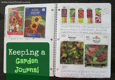 Garden Composting Keeping a garden journal. I hope to start one next year! - When we bought our first house we hadn't even been the house for one week and my Mom showed up with her tiller and garden tools. We quickly plotted out a