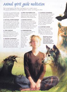 Animal Spirit Guide Meditation.  Very helpful read.  <3