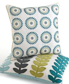 Nostalgia Home Bedding, Leah 16 Square Decorative Pillow - Decorative Pillows - Bed
