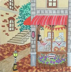 From Chiaki Ida's My Colorful Town. Colored with Prismacolor Premiers.