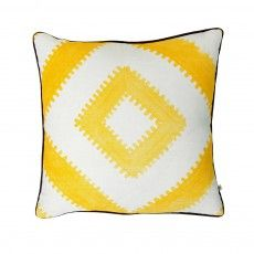 Sawtooth Yellow - Bonnie and Neil Bonnie And Neil, Yellow Cushions, Wall Storage, Screen Printing, Kids Room, Throw Pillows, Prints, Handmade, Tile