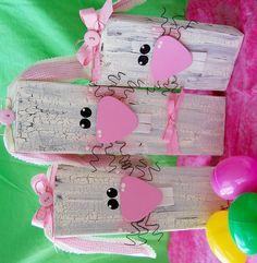Wooden Bunnies - CreativeMeInspiredYou.com