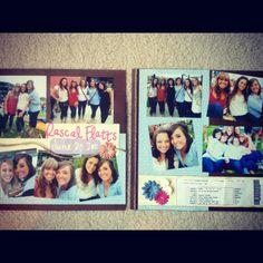 Concert scrapbook page