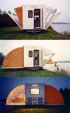 De camping.