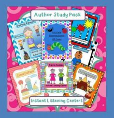 Author+Study+-+7+Instant+Listening+Center+Pack+-+QR+Codes/+Daily+5+from+Smart+Teaching+on+TeachersNotebook.com+-++(40+pages)++-+This+Value+Pack+contains+all+of+the+Author+Study+Instant+Listening+Centers.++You+get+a+single+sheet+and+an+individual+card+version+of+each++listening+center.++There+are+also+writing+activities+that+accompany+each+of+centers.++