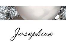 #Bibigì | Collezione Josephie | Gioielli in oro bianco, diamanti e perle.
