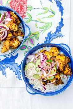 Delicious chargrilled chicken and an addictive peanut sauce that takes just 5 minutes to make! Coconut rice partners so well with the satay flavours.