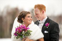 Beautiful winter wedding in Cape Breton.  This Photo was taken at the new Marina in Ben Eoin. www.winningshot.ca