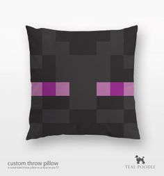 Minecraft Enderman Throw Pillow - Mine Craft
