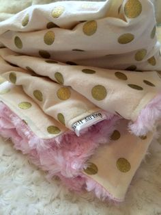 Hey, I found this really awesome Etsy listing at https://www.etsy.com/listing/188502611/gold-dot-blanket-minky-baby-blanket