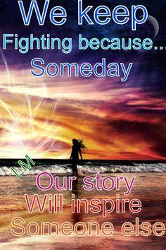 We keep fighting....