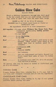 Golden Glow Cake Recipe