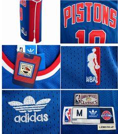 ... NBA Detroit Pistons 10 Dennis Rodman Soul Swingman blue Jersey details  ... f097a03f6