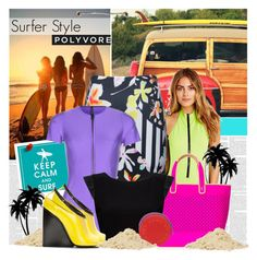 """Making Waves: Surfer Style"" by bklana ❤ liked on Polyvore featuring Surfer Girl, UNIF, Juicy Couture, Polaroid, Clover Canyon, Lisa Marie Fernandez, Alice + Olivia, COSTUME NATIONAL, Marc by Marc Jacobs and surferstyle"