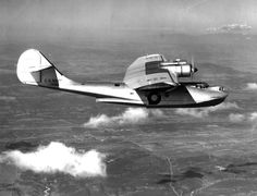 The XPBY-5A Catalina, amphibious version of the famed flying boat, pictured on a test flight near San Diego, California, on November 29, 1939.