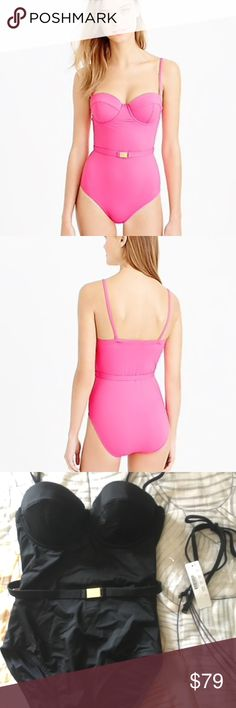ddb9ec4d60e3f We dressed up our favorite underwire one-piece swimsuit with a waist-cinching  belt (and a chic gold clasp!) for a pretty