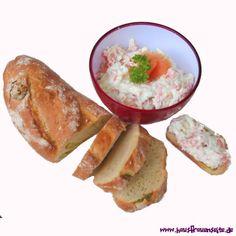 Lachs-Eier-Creme - Rezept  unsere Lachs-Eier-Creme passt gut zu Brezen, ist ein wunderbarer Brotaufstrich! glutenfrei