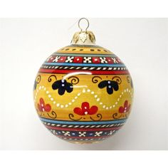Bonechi Imports Italian Antico Geometrico Christmas Tree Ornament - majolica pottery handmade in Deruta, Italy