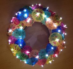 Wreath by Jesslyn at night!