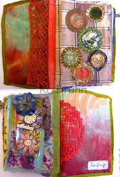 Ro Bruhn - inside my latest journal for sale on Etsy. There are 172 pages in total.