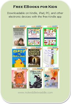 Here is today's list with some fabulous free eBooks: a book all about Kindergarten by fellow blogger Susan Case, a reprint of an older kid novel, and several picture puzzle books for young kids!  #kidlit #free #ebooks #kids
