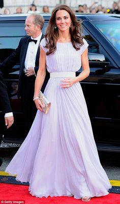 Kate Middleton's lavender chiffon dress. I love this dress