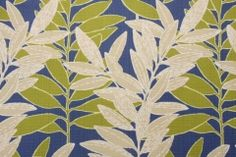 Richloom East Bluff  Printed Polyester Linen Outdoor Fabric in Cobalt $8.95 per yard