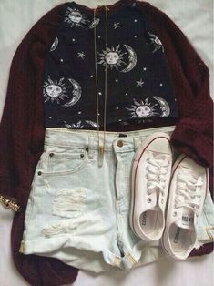 Cute outfit for a night out..It would aslo be cute with jeans for School.