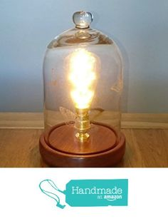 Bell Jar Table Lamp from Nigel Peters Woodturnings https://www.amazon.co.uk/dp/B01N6CRO93/ref=hnd_sw_r_pi_awdo_YCKCyb6P1KJA4 #handmadeatamazon