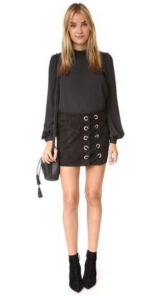 Parker Monica Suede Skirt