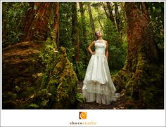 Trash the Dress - forest setting If only the woods around here looked like this!