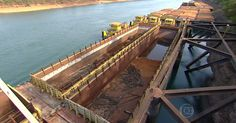 Com seca, produtores trocam hidrovia por caminhões e têm prejuízo