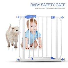 Baby Safety Gates,WYTong Metal Baby Safety Gate Children Security Product for Doorway Staircase * Continue @