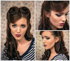 Retro Hairstyle Tutorials You Have To Try We should really try some of these just for the fun of it :)