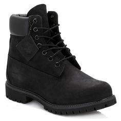 Mens Black Premium 6 Inch Nubuck Leather Boots (108.615 CLP) ❤ liked on Polyvore featuring men's fashion, men's shoes, men's boots, men's work boots, men, shoes, mens water proof boots, mens boots, timberland mens boots and mens waterproof boots