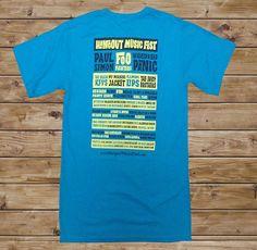 2011 Hangout Fest Shaka T-Shirt - Turquoise - $15.00