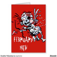 what happy valentine card  Zombies  Pinterest