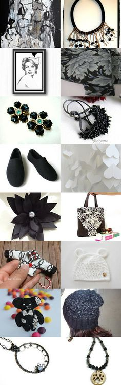 lovely black and white gifts by Christa Mavropoulou on Etsy