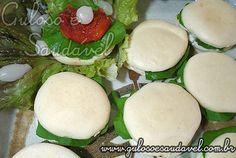 Poder nas mãos: Mini Sanduíche de Pão Árabe   Omini sanduíche de ...