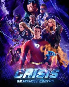 Everyone is exciting about the last crisis Credits Flash Comics, Arte Dc Comics, Dc Comics Superheroes, Superhero Shows, Superhero Poster, Batwoman, Flash E Supergirl, Supergirl Season, Marvel Avengers
