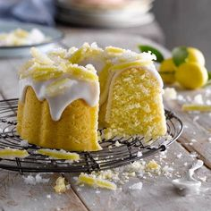 Image Lemon Recipes, Sweet Recipes, Whole Food Recipes, Cake Recipes, Dessert Recipes, Desserts, Bunt Cakes, Cupcake Cakes, Cupcakes