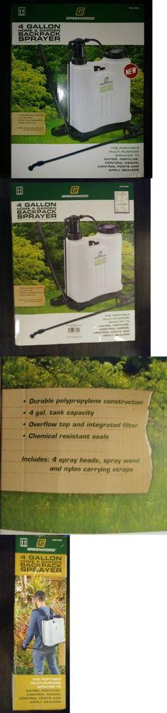 Garden Sprayers 178984: 4 Gallon Backpack Pesticide Fertilizer Garden Sprayer With 4 Nozzles -> BUY IT NOW ONLY: $38.95 on eBay!