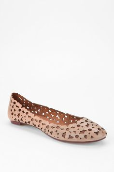 Jeffrey Campbell Daisy Mae Cutout Skimmer in Nude Crazy Shoes, Me Too Shoes, Daisy Mae, Bridesmaid Shoes, Loafers For Women, Jeffrey Campbell, Leather Loafers, Slip On Shoes, Urban Outfitters